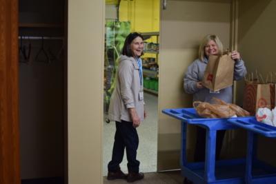 Smiling volunteers in Burnsville